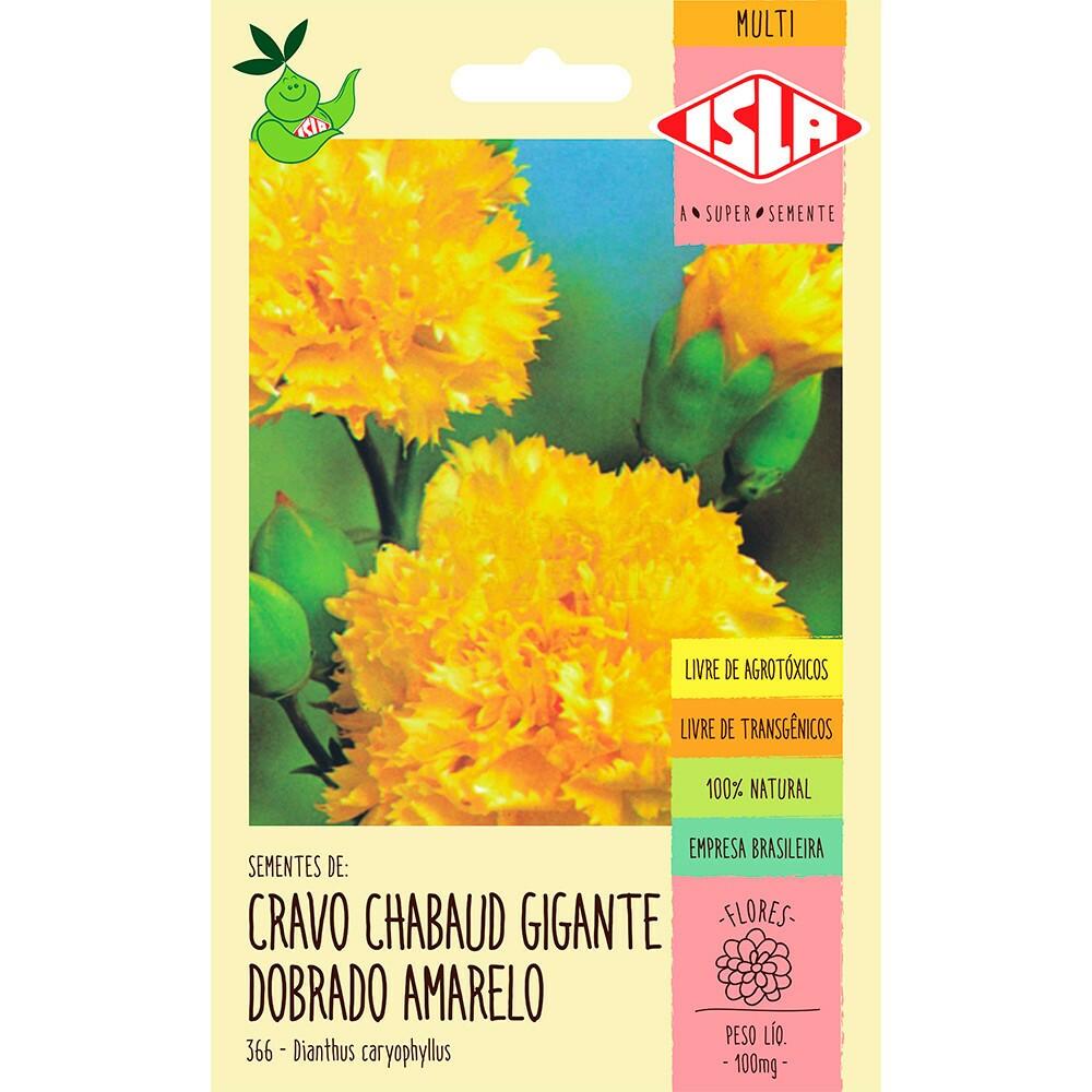 """Cravo """"Chabaud"""" Gigante Dobrado Amarelo"""