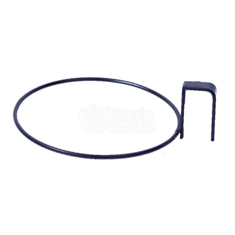 Suporte Argola de Treliça para Vaso Autoirrigável Grande Preto (T4)