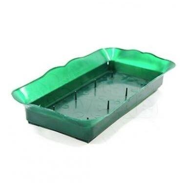 Base Plástica para Espuma Floral - 22x9x3 cm - Verde