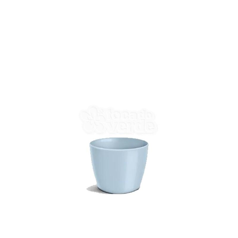Cachepô Redondo Elegance N01 - 0,6 L - Cor Azul Bebê