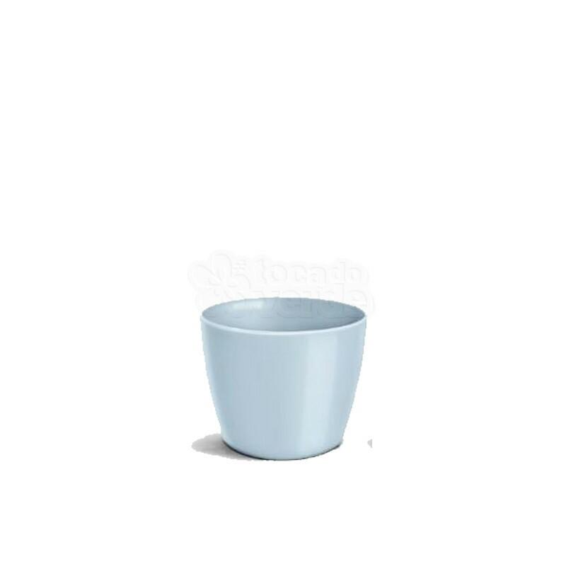 Cachepô Redondo Elegance N02 - 1 L - Cor Azul Bebê