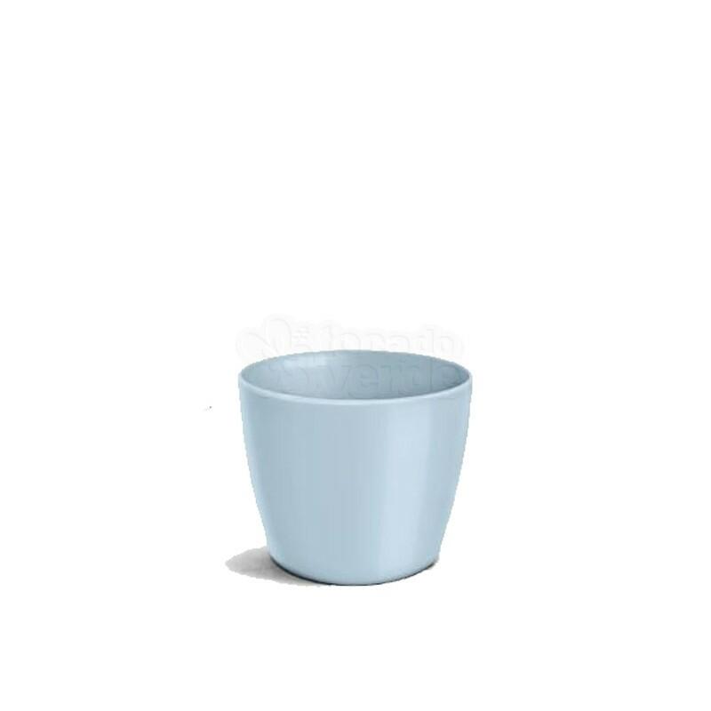 Cachepô Redondo Elegance N03 - 1,5 L - Cor Azul Bebê