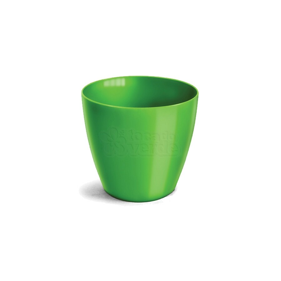Cachepô Redondo Elegance N05 - 12 L - Cor Verde Limão