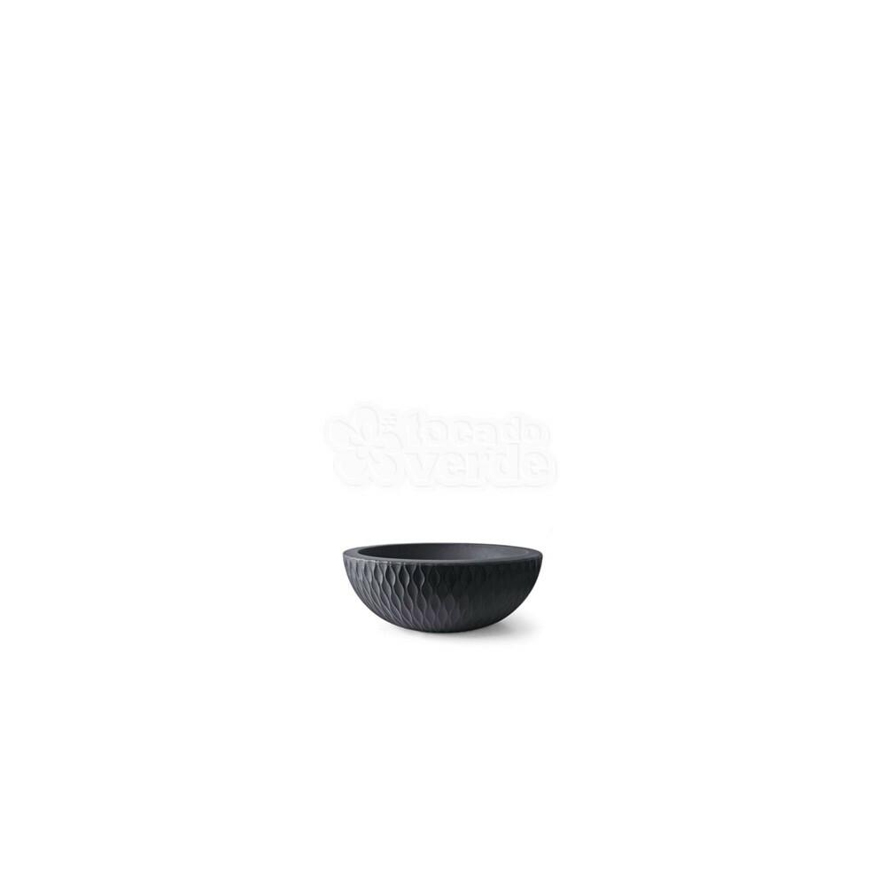 Vaso Infinity Concha N09 - 9x24,7 cm - 2 L - Preto