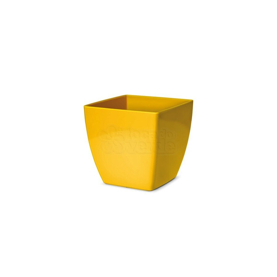 Cachepô Quadrado Elegance N02 - 1,7 L - Cor Amarelo