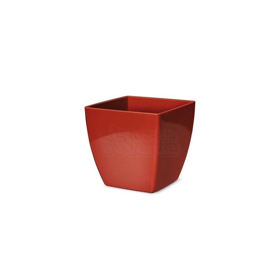 Cachepô Quadrado Elegance N02 - 1,7 L - Cor Vinho