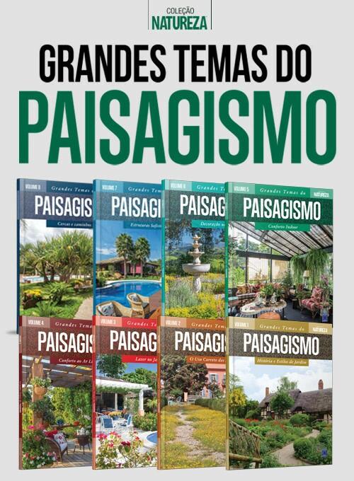 Coleção Grandes temas do Paisagismo - 8 volumes