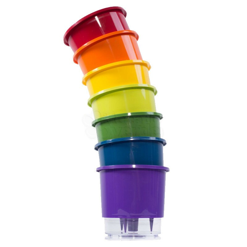 Kit 7 VASOS AUTOIRRIGÁVEIS Rainbow MÉDIO T3 - 16x14cm