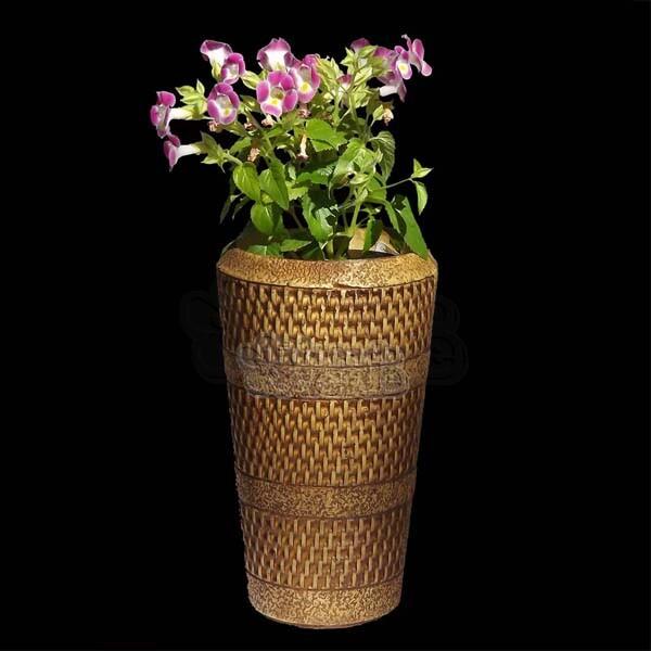 Vaso Império - Natural - Alt 24 cm - 1,6 L - L809