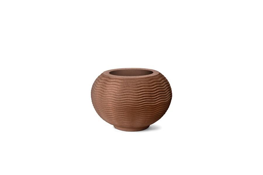 Vaso Ondulado Redondo N26 - 26x26cm - 20 Litros - Cor Ferrugem