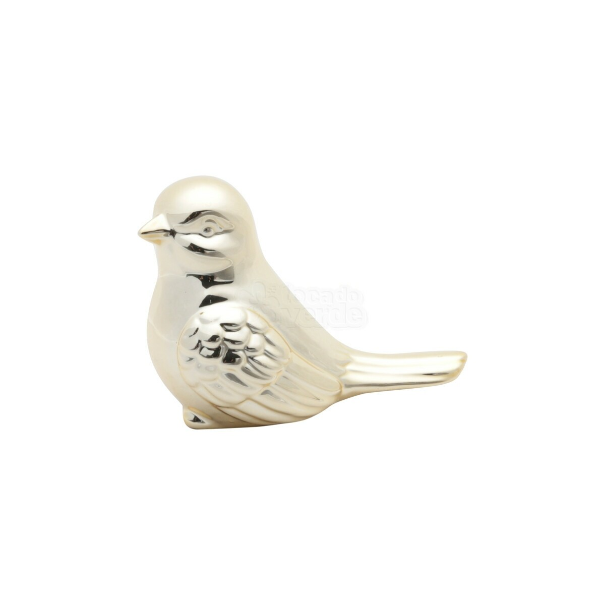 bird decor dourado