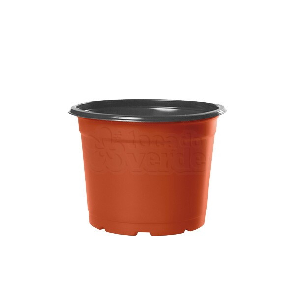 Pote Holambra NP11 - 415 ml - Cerâmica/Preto