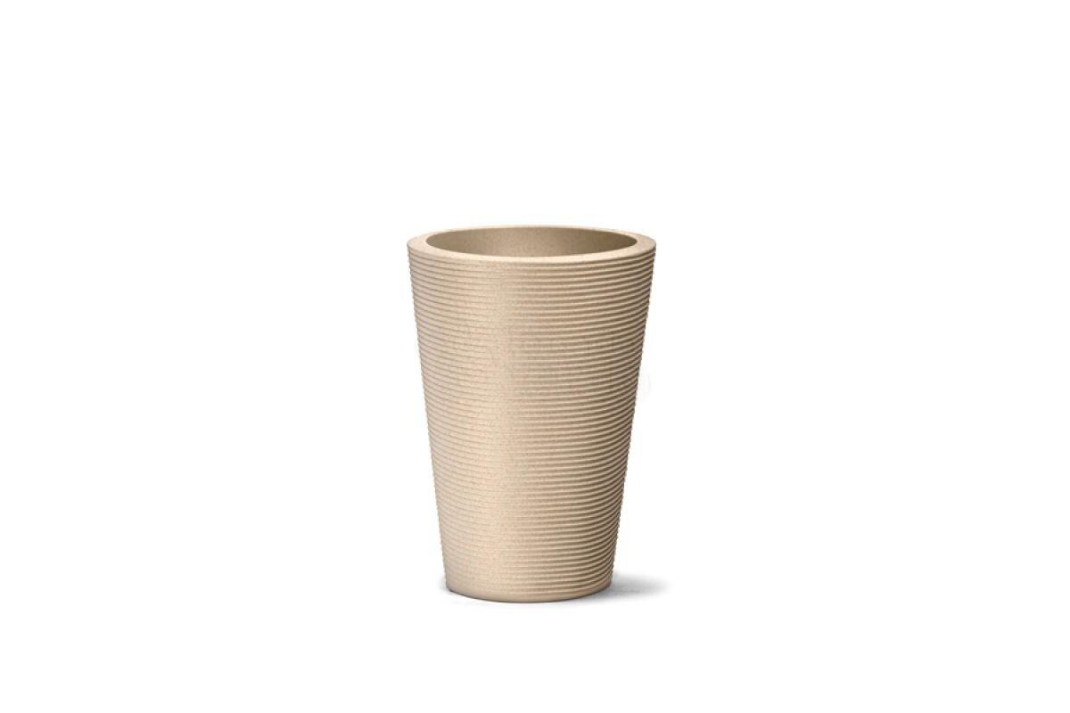 Vaso Riscatto Cônico N55 - 55x39,5cm - 44 Litros - Cor Areia