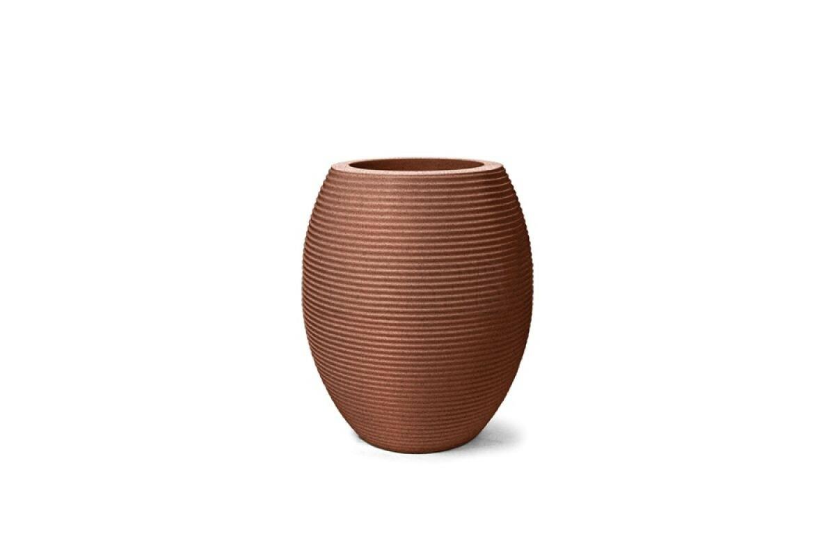 Vaso Riscatto Oval N27 - 27x16cm - 6,7 Litros - Cor Ferrugem
