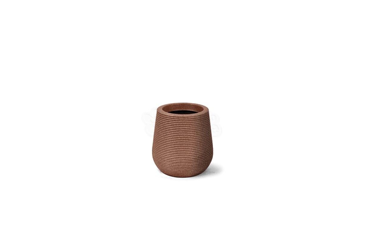 Vaso Riscatto Redondo N26 - 26x20,1cm - 9,3 Litros - Cor Ferrugem