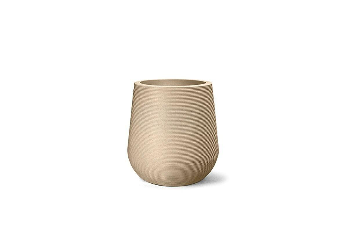 Vaso Riscatto Redondo N78 - 78x62,5cm - 276 Litros - Cor Areia