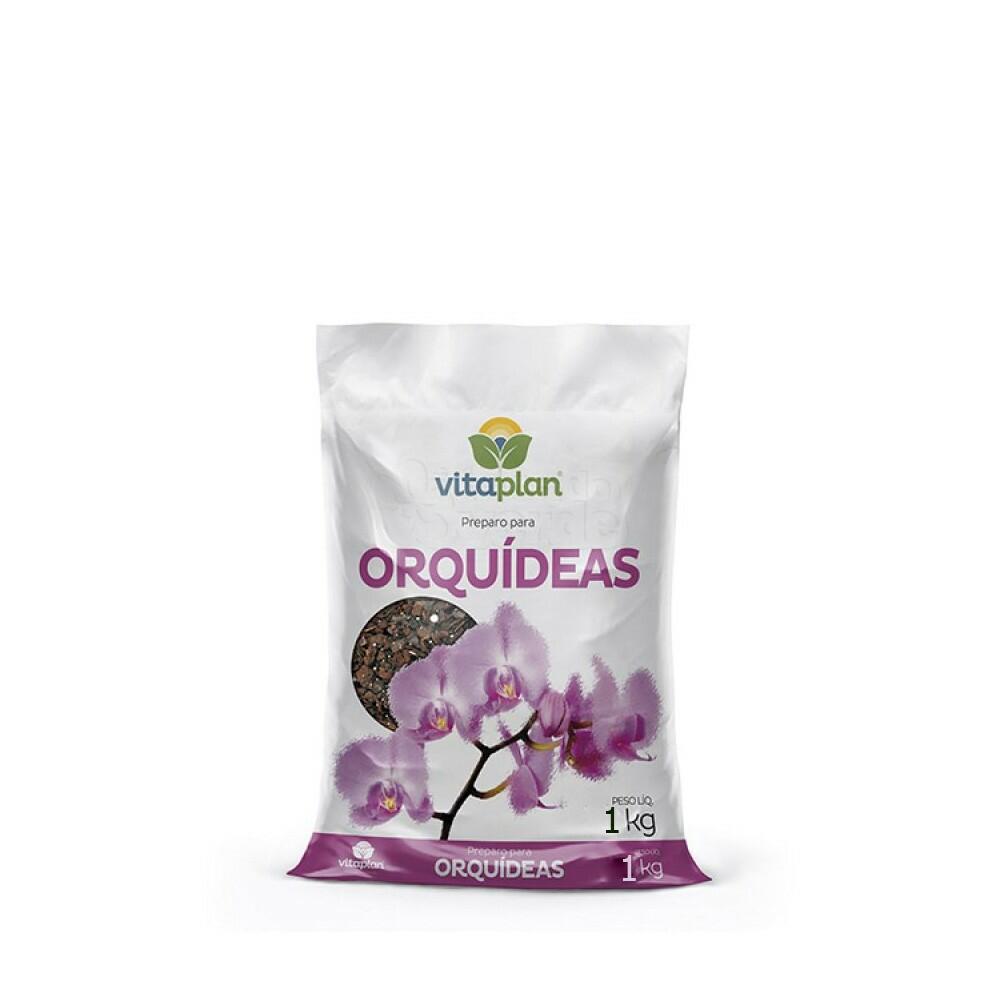 Substrato preparado para Orquideas