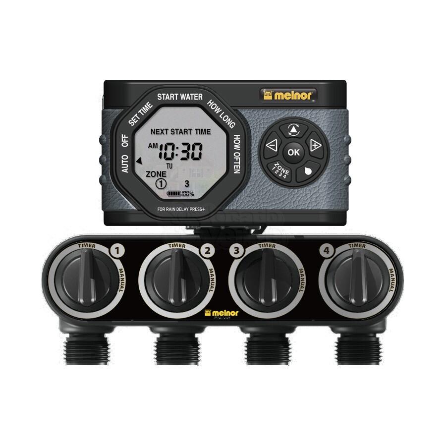 Temporizador Timer Controlador eletrônico 4 zonas  LCD SOLENÓIDE 4H/7D 1/240MIN - 53280 - Melnor