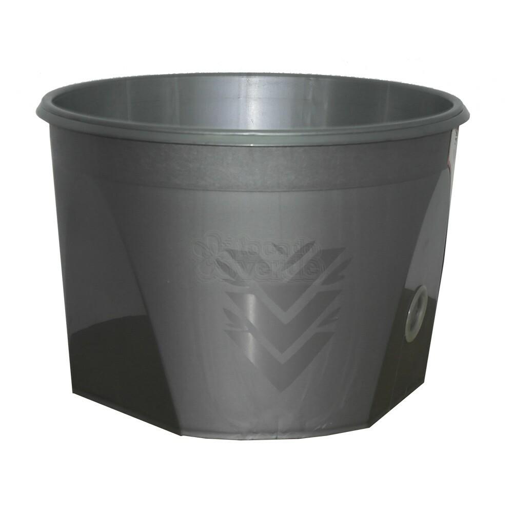 Vaso Acqua Auto Irrigável - 39x27 cm - Verde Vida - Cor Prata