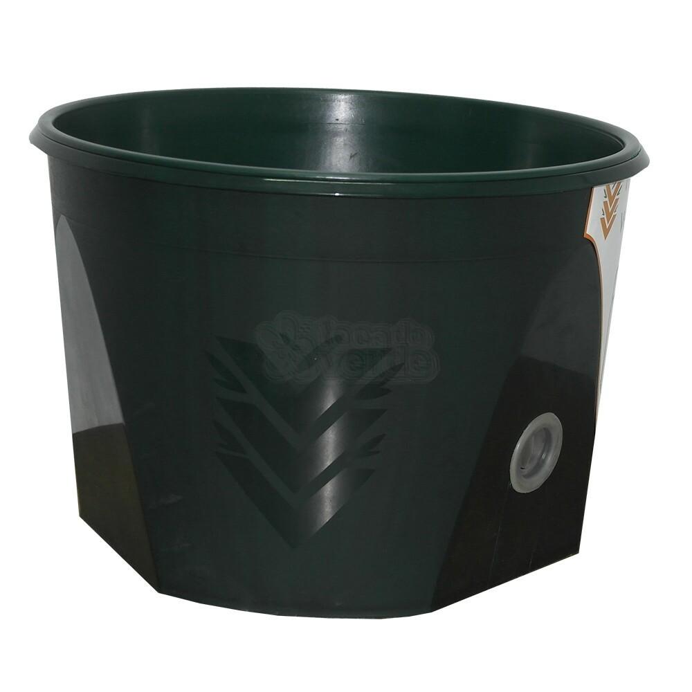 Vaso Acqua Auto Irrigável - 39x27 cm - Verde Vida - Cor Verde