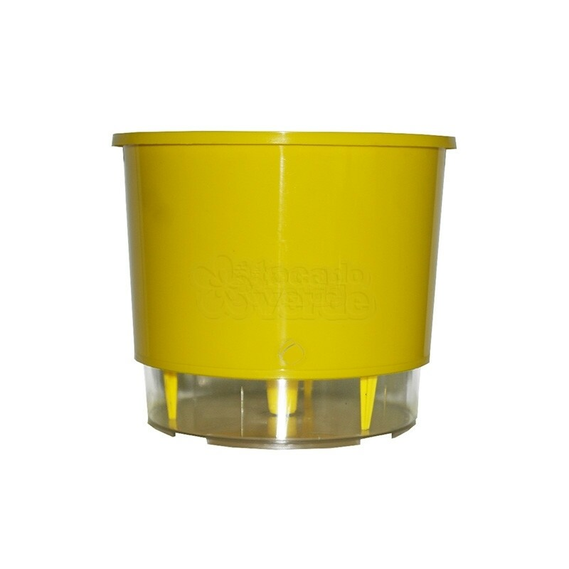 Vaso Autoirrigável Médio - Amarelo (T307)