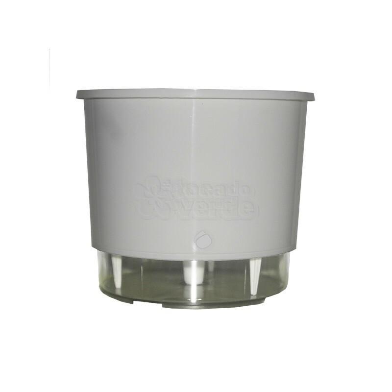 Vaso Autoirrigável Médio - Branco (T301)
