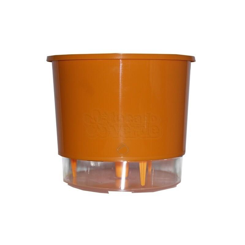 Vaso Autoirrigável Pequeno - Laranja (T203)
