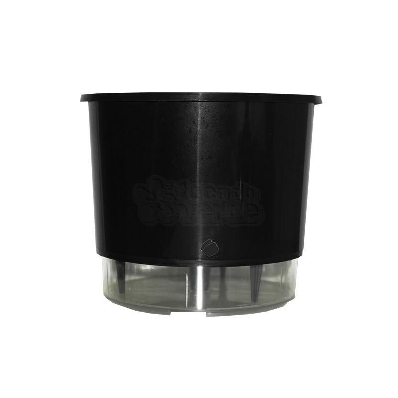 Vaso Autoirrigável Pequeno - Preto (T208)