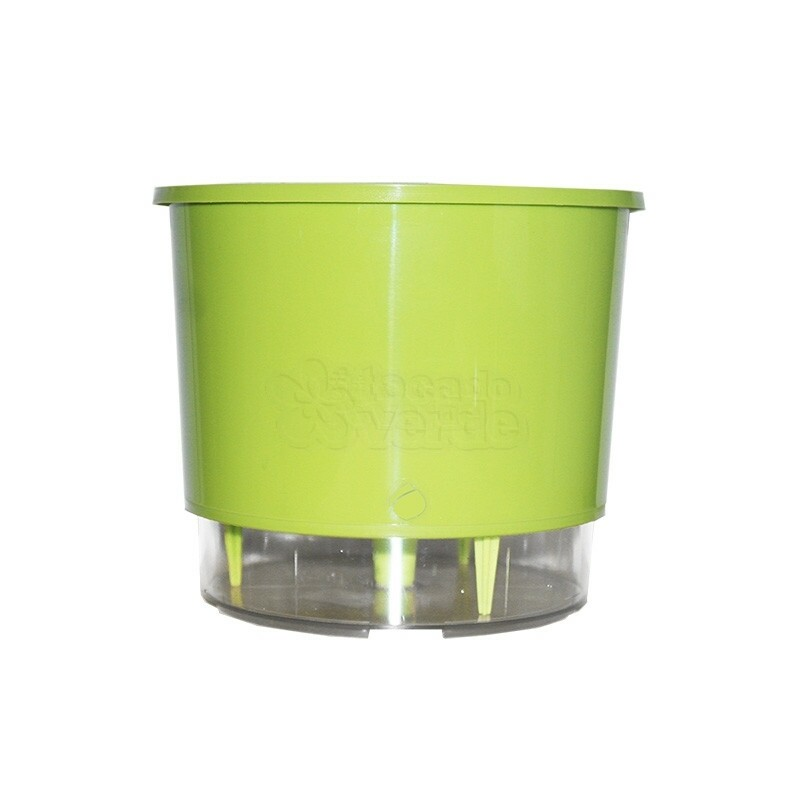 Vaso AutoIrrigável T3 Médio RAIZ - Verde Claro
