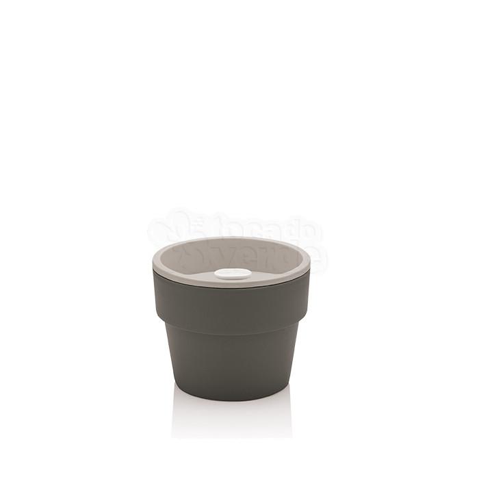 Vaso Autoirrigável Pequeno - Linha Plantar - Cor Chumbo