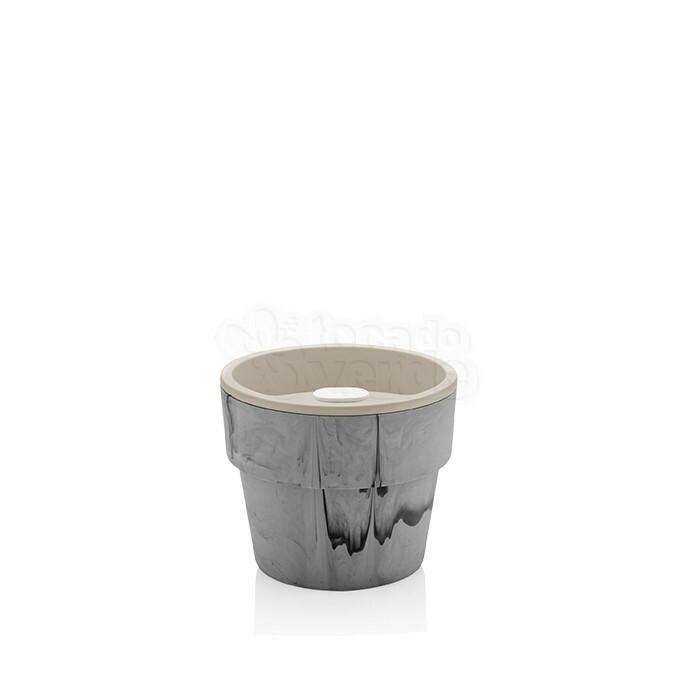 Vaso Autoirrigável Pequeno - Linha Plantar - Cor Concreto