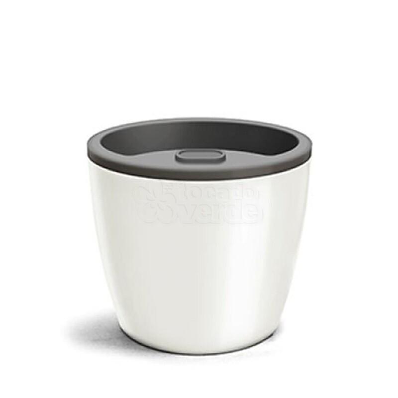Vaso Autoirrigável Elegance N04 - 23,2x25,4 - 8 Litros - Cor Branco