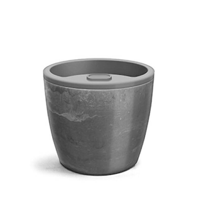 Vaso Autoirrigável Elegance N04 - 23,2x25,4 - 8 Litros - Cor Preto Onix