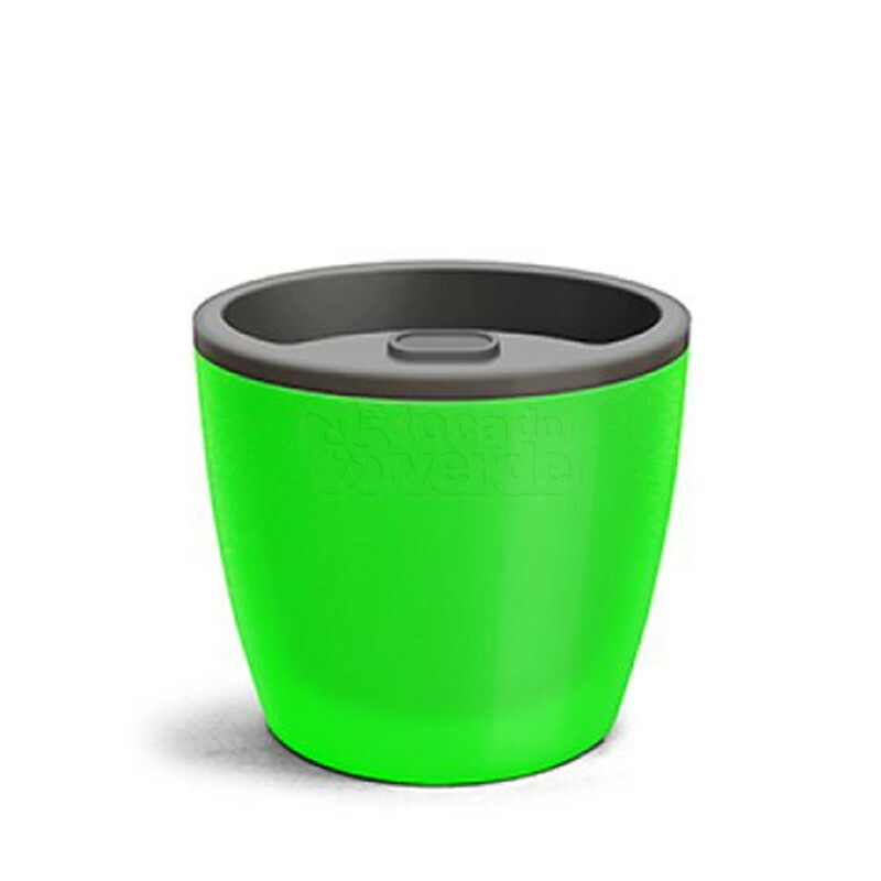 Vaso Autoirrigável Elegance N04 - 23,2x25,4 - 8 Litros - Cor Verde