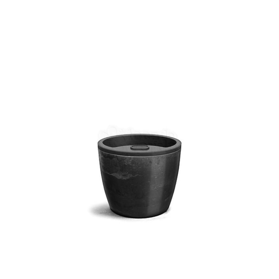 Vaso Autoirrigável 12,5x15,4 - Elegance - Cor Preto Onix