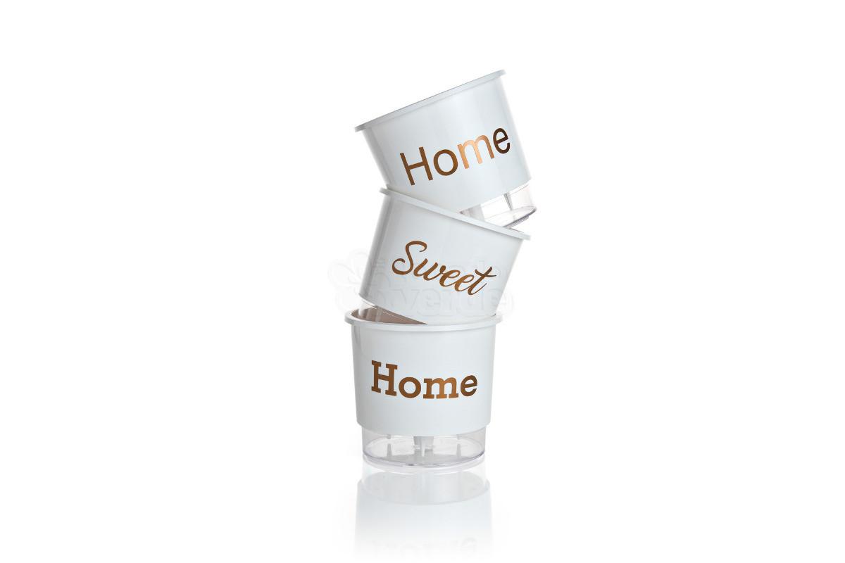 Trio Home Sweet Home - Autoirrigável T2 - 12x11 cm- Cor Branca