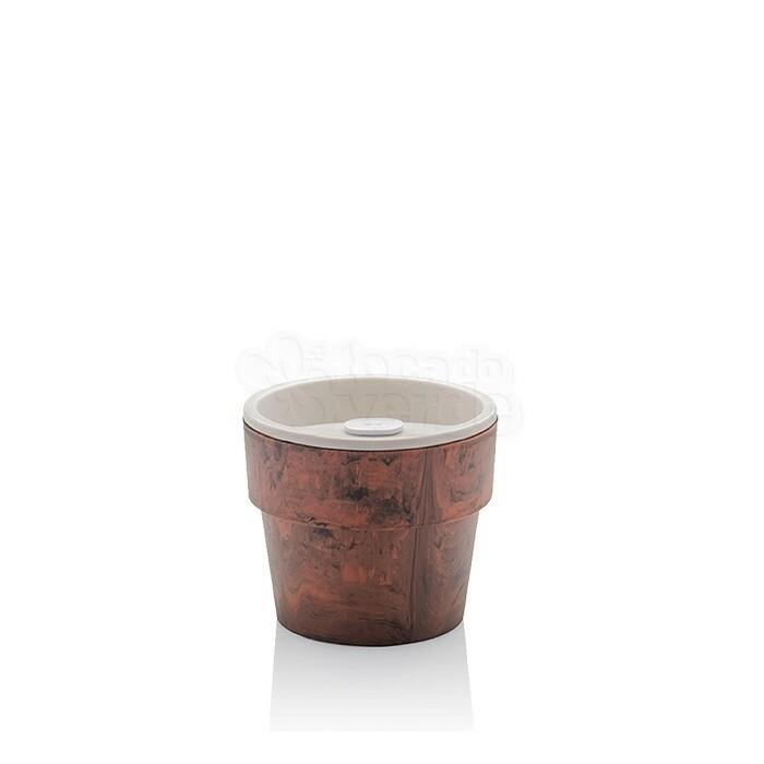 Vaso Autoirrigável Pequeno - Linha Plantar - Cor Mogno