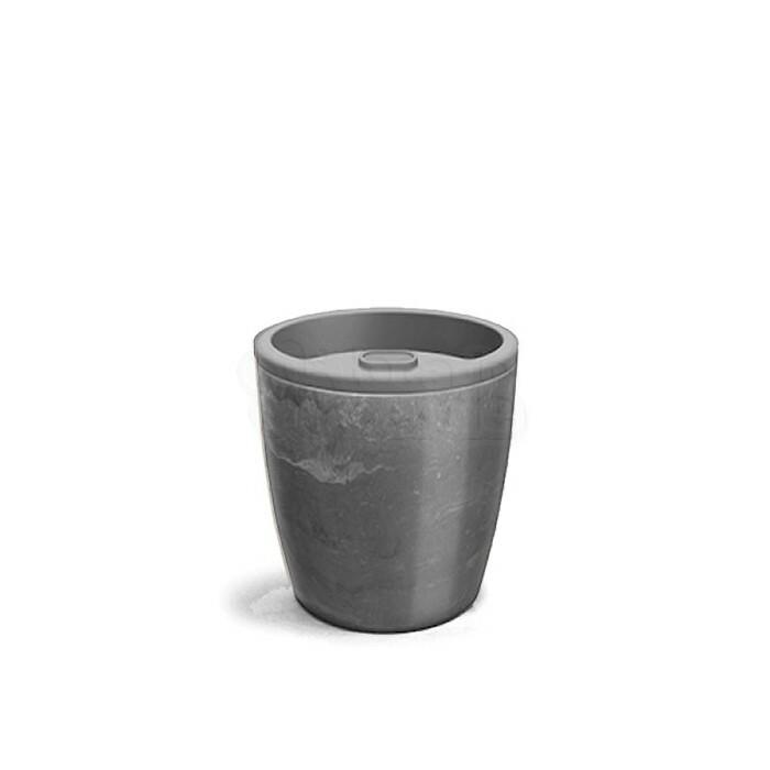 Vaso Autoirrigável 15,9x15,4 - Elegance N03,5 - Cor Preto Onix