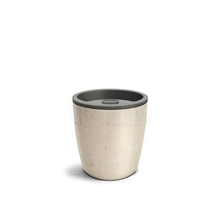 Vaso Autoirrigável 15,9x15,4 - Elegance N03,5 - Cor Travertino