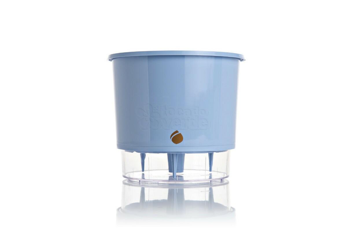 Vaso Autoirrigável WISHES T2 - Cor Azul Serenity
