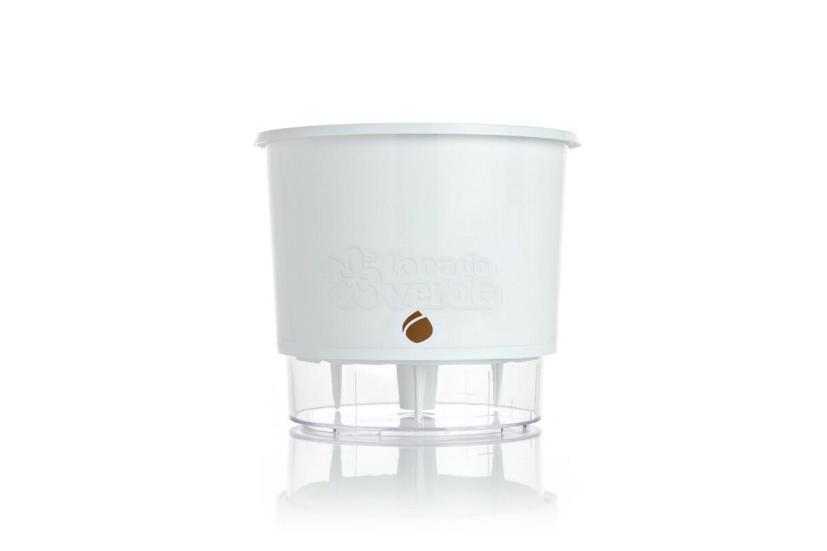 Vaso Autoirrigável WISHES T2 - Cor Branca
