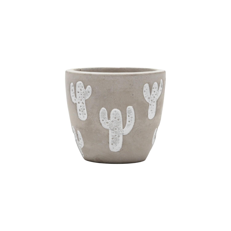 Vaso de cimento rustico e delicado