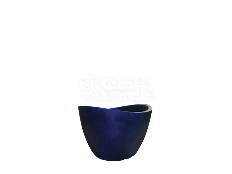 Vaso Copacabana 40x30 cm antique - azul - Vasart