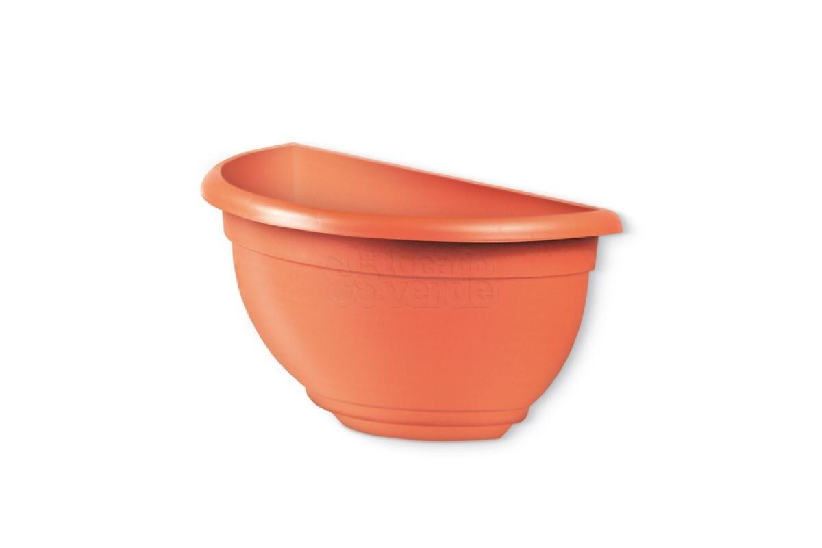 Vaso de Parede Pequeno Plástico - 26x13,5x13,5 cm - Cor Cerâmica