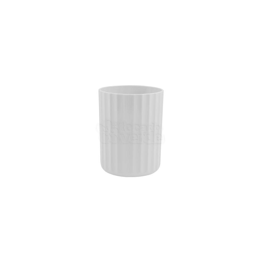 Vaso Groove P 10 alt x 8 cm - VG 200 - Cor Branco