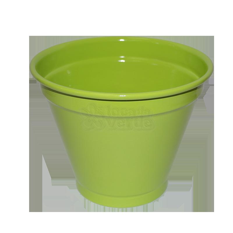Cachepô Alumínio - N06 - Cor Verde Claro