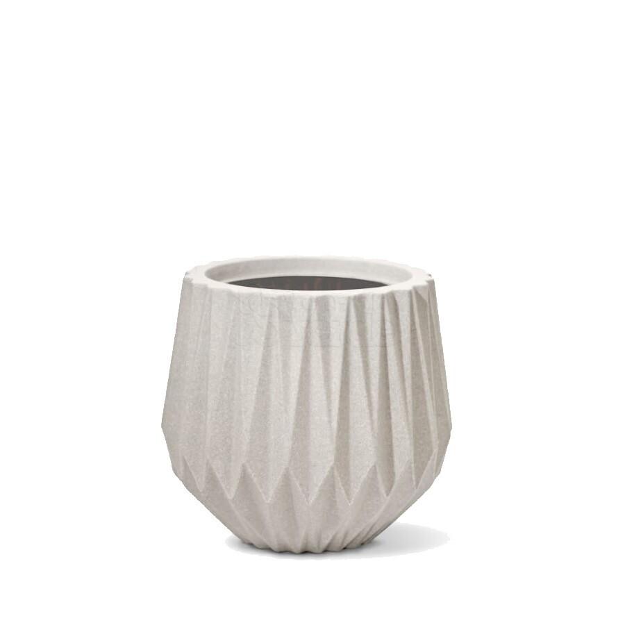 Vaso Origami N22 - 22x20,5 cm - 5,5 L - Cor Cimento