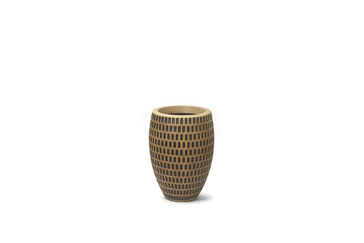 Vaso Maia Oval N30 - 30x19,2 - 7,5 L - Cor Envelhecido