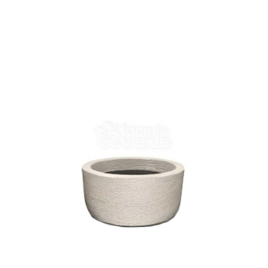 Vaso Redondo Baixo Grafiato N15 - 15x30 cm - 7 L - Cor Cimento