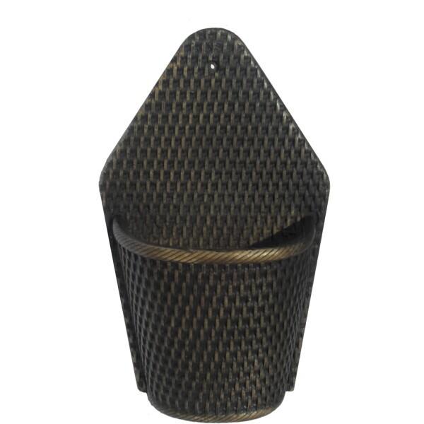 Vaso de Parede Meia Lua Rattan - Tabaco L1064